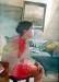 aquarelle de Michel Perot, professeur au sein du collectif d\'un atelier à l\'autre
