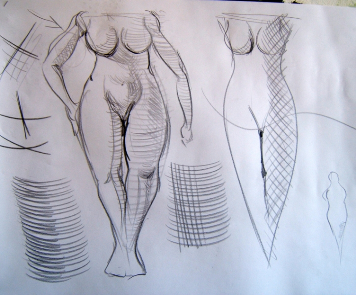cours de dessin d'après modèle vivant - bases et techniques