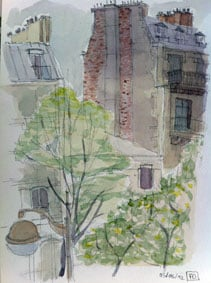 cours d'aquarelle à Paris