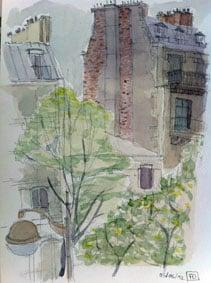 cours d'aquarelle à Paris
