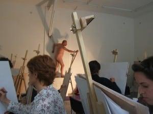 stage de dessin en atelier