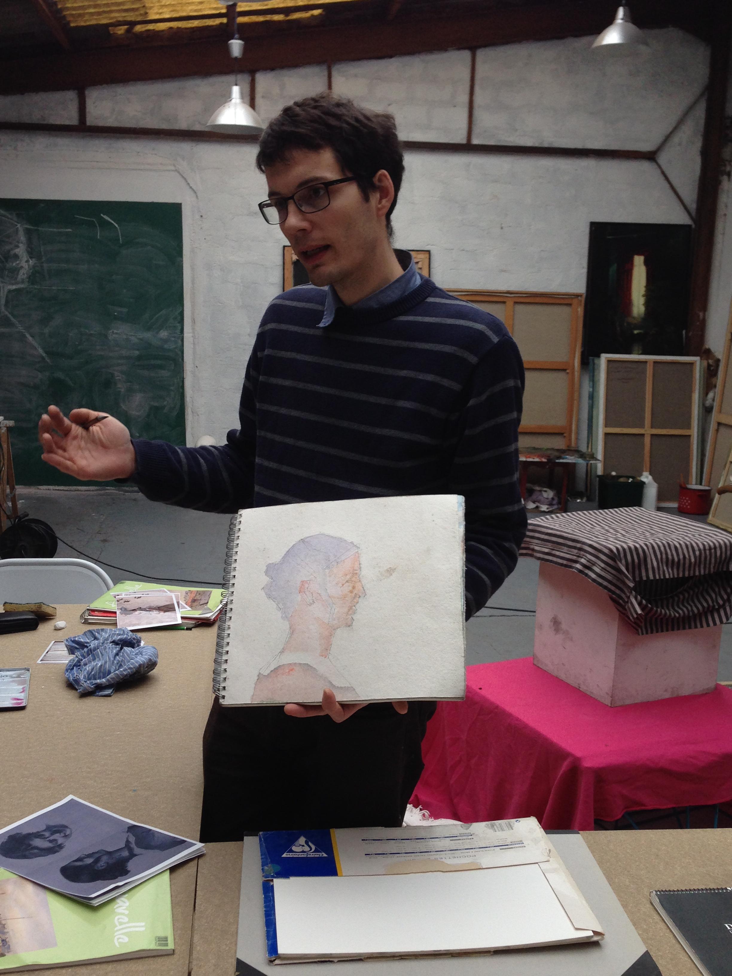 cours d'aquarelle avec Michel Perot