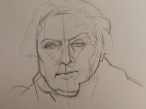 dessiner un portrait trame