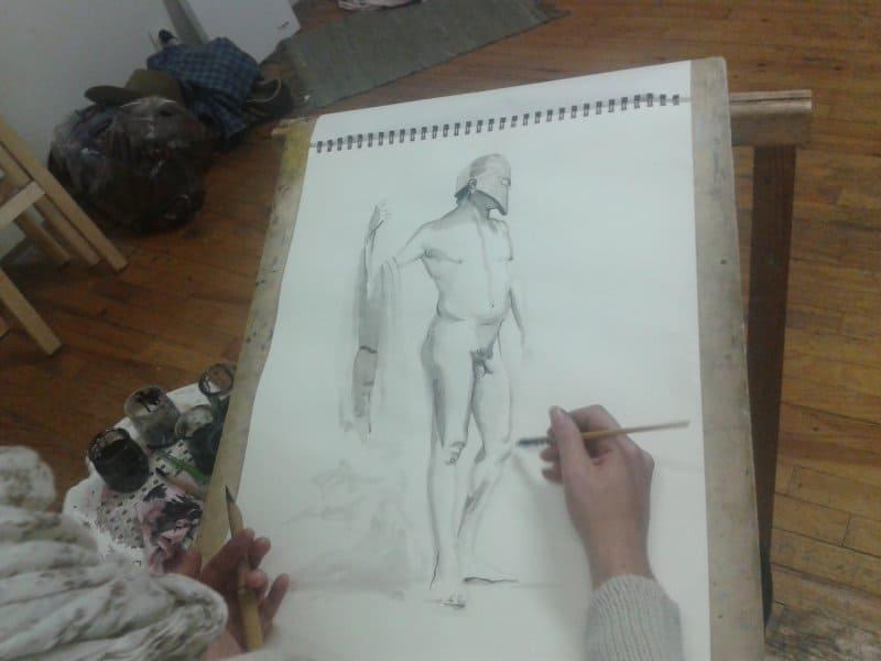 dessiner au lavis