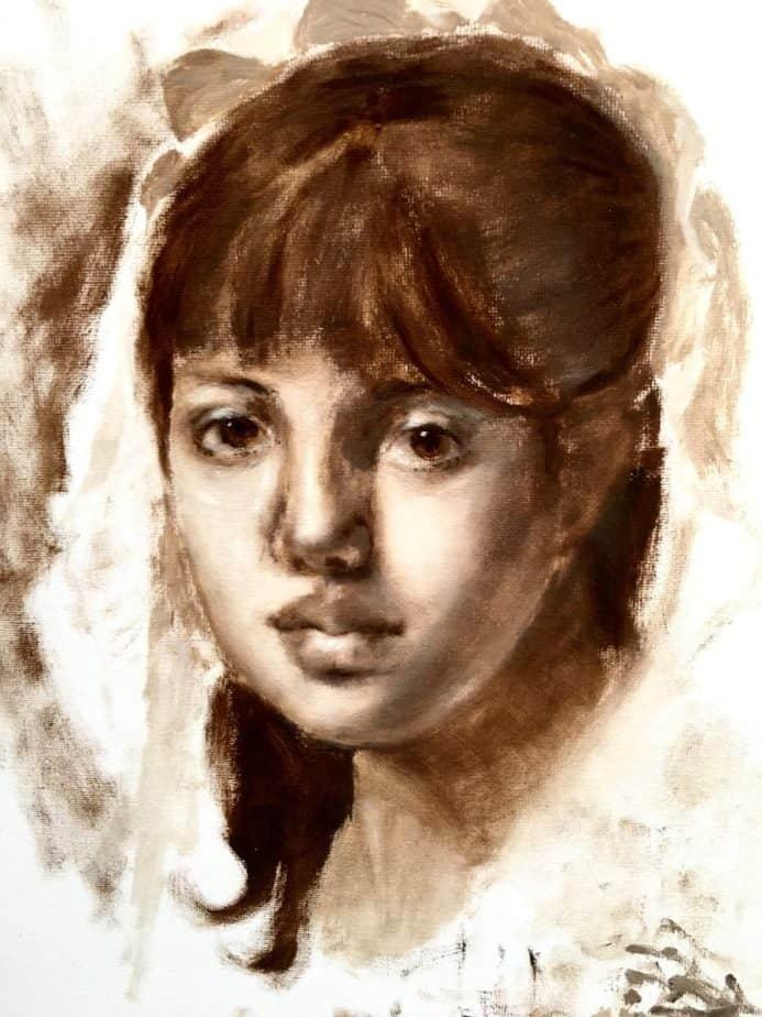 Peindre un portrait à l'huile