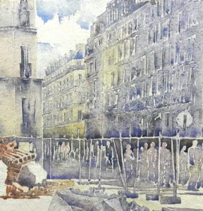 aquarelle à Paris