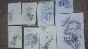 cours-dessin-Paris-extérieur-arbre