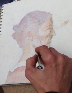 le portrait à l'aquarelle