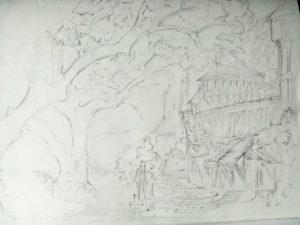 cours de dessin au musée d'Orsay