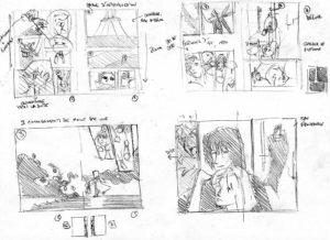 Analyse de double pages de manga par Olivier Figueroa