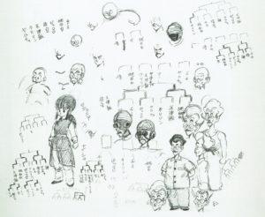 Recherche et croquis de personnages par Akira Toriyama