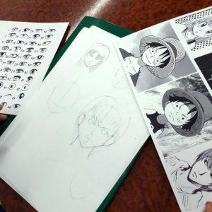 Dessin d'élève du cours de manga