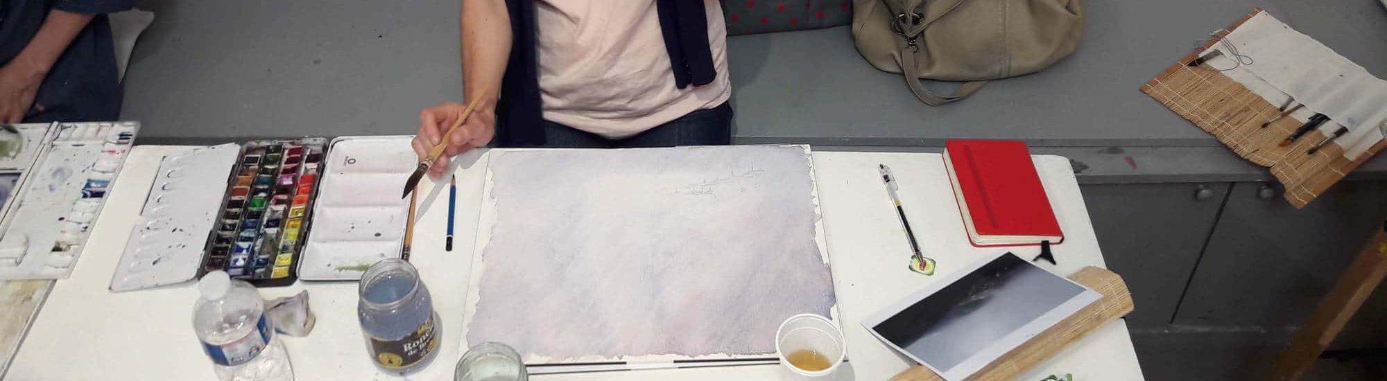 cours d'aquarelle