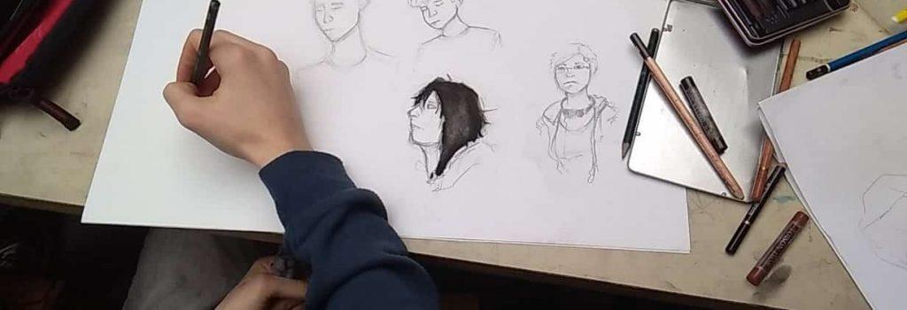 cours de dessin pour adolescents