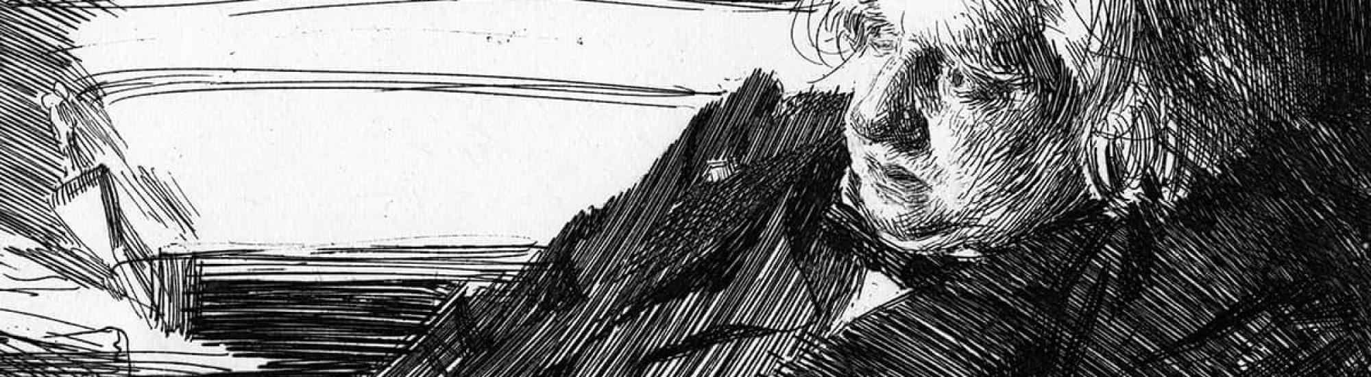 dessiner à la hachure Anders Zorn